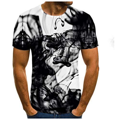 SSBZYES Camisetas De Manga Corta para Hombre, Camisetas para Hombre, Camisetas Estampadas para Hombre, Camisetas De Impresión Digital 3D De Manga Corta Casual De Verano Recto