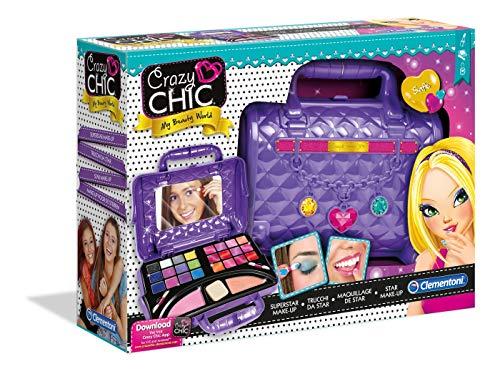 Clementoni 15773.0 - Star Make-Up Crazy Chic - wunderschöne Tasche mit vielen Schminksachen