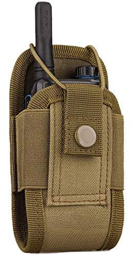 Kyrio Molle porta radio Walkie Talkie Pouch Case per cintura di servizio radio fondina tattica caccia citofono borsa interfono
