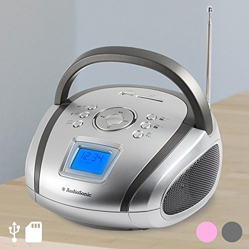 Audiosonic RD-1566 - Radio estéreo (USB/SD/MP3) rosa