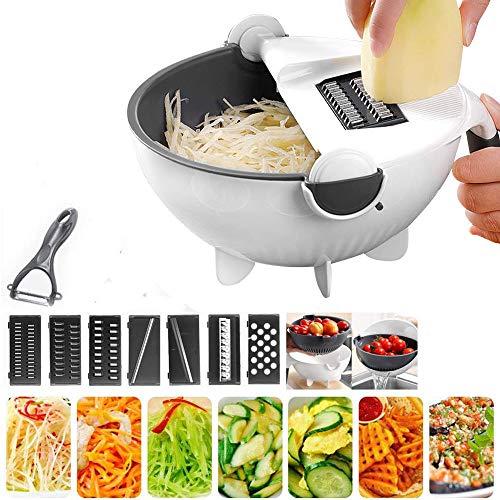 Potato Chipper Pommes Slicer Chip Cutter Veg Chopper Maker 2 Klingen Stahl