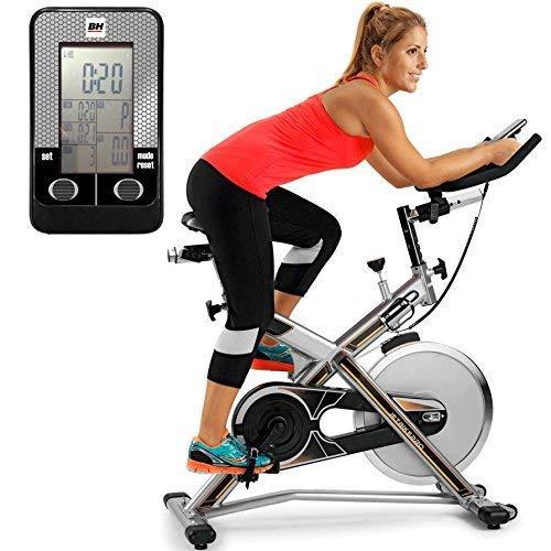 BH Fitness MKT Jet Bike Pro H9162RF Bicicleta Ciclismo Indoor. Volante inercia 22 Kg. Cuadro de Acero Muy Robusto. Máxima Estabilidad al Entrenar de pie. (Reacondicionado Certificado)