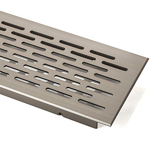 SO-TECH® Lüftungsgitter Belüftungsblech Lüftungsblech Oval - Edelstahloptik - 500 mm