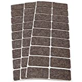 Adsamm WFP-30-SA-BR-2550-18-3 54 almohadillas de fieltro de lana, Marrón, 25x50 mm