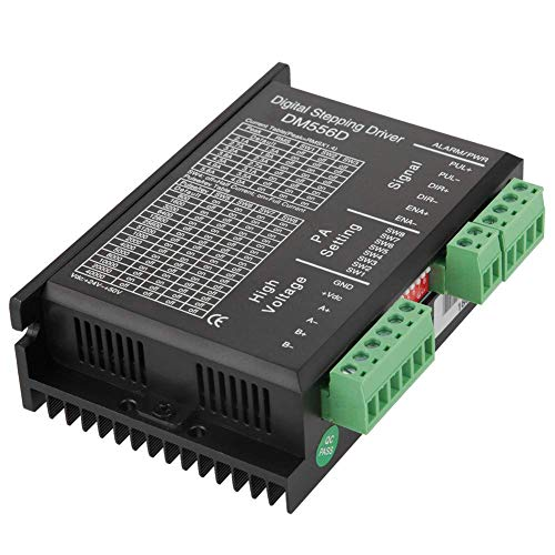 JF-XUAN Step Motor Drive, 1KW 5.6A 48V DC Two-phase High Power Low Vibration 32 Bit Digital Stepper Motor Driver for CNC Router Milling Automation Equipment Instruments Controls Indicators Motor Drive