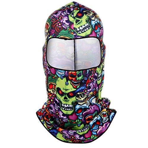 JewelryWe Sturmhaube Gesichtshaube Skihaube Skimaske Balaclava Motorradmaske Kopfhaube Atmungsaktiv Fahrrad Motorrad Skifahren Maske, Modelle A