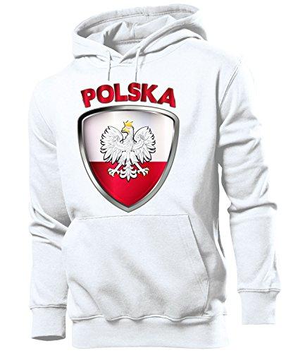 Polen Polska Poland Polski Polnische Koszulka Fussball Fanhoodie Fan Männer Herren Hoodie Pulli Kapuzen Pullover Fanartikel Trikot Look Geschenke Flagge zubehör Fahne fußball Fanartikel Oberteil Flag