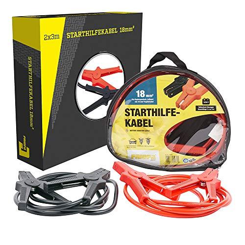 PRIOPA Starthilfekabel Überbrückungskabel Starterkabel Kabel Starthilfe 12/24V 18 mm² 3 m Benzin 220 Ampere Battery Booster Cable