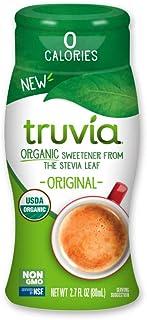 Truvia Organic Zero Calorie Liquid Stevia Sweetener Bottle, Original flavor, 2.7 fl. oz.
