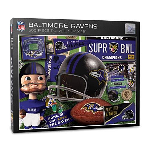 NFL Puzzle Retro Series 500 pcs Teile Baltimore Ravens Football