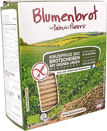 Blumenbrot Bio Knusprige Bio grüne Linsen-Schnitten (6 x 150 gr)