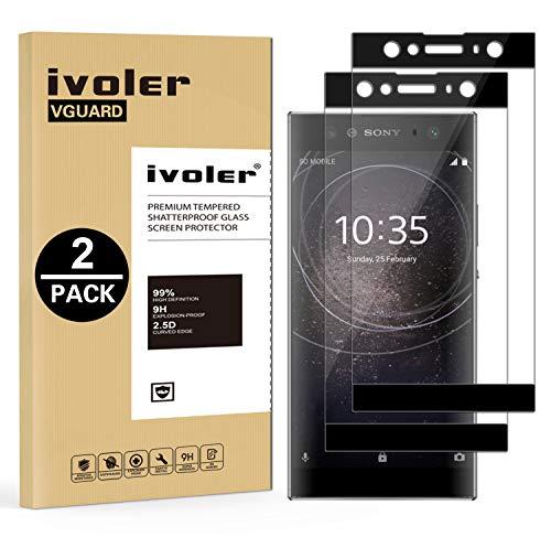 ivoler [2 Stücke] Panzerglas Schutzfolie für Sony Xperia XA2 Ultra, [Volle Bedeckung] Panzerglasfolie Folie Hartglas Gehärtetem Glas BildschirmPanzerglas