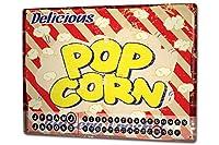 カレンダー Perpetual Calendar Retro Popcorn fresh Tin Metal Magnetic