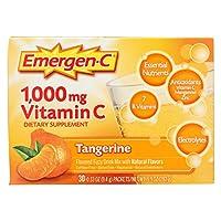Alacer - Emergen-CのビタミンCエネルギーブスターの蜜柑 1000 mg。30パケット
