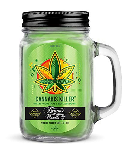 12oz Cannabis Killer Scented Beamer Candle Co. Ultra Premium Jar Candle. 90 Hr Burn Time. USA Made