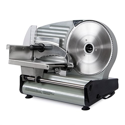 Della 8.7' 180W Electric Meat Slicer Blade Countertop Deli Cutter Veggies Meat Slice Home Kitchen...