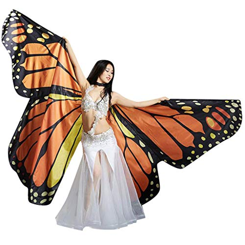 Frashing Damen Schmetterling Kostüm Faschingkostüme große Schmetterling Schal Flügel Schals Schmetterlingsflügel Bühne Requisiten Karneval Fasching Party Cosplay