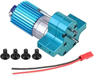Baoblaze 370 Motor + Center Gearbox + Heat Sink Assembly for WPL RC Semi-Truck Military Truck Parts - Blue