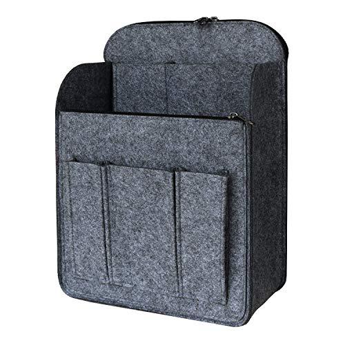 APSOONSELL Large Backpack Organizer Insert Felt Bag Organizer with Zipper Backpack Shaper Foldable Tote Organizer for Rucksack Shoulder Bag, Gray, S