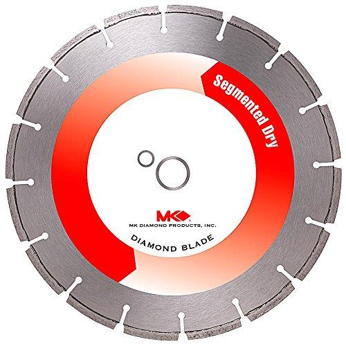 MK Diamond 156246 MK-799D 14-Inch Dry Cutting Segmented Diamond Saw Blade with 1-Inch Arbor for Masonry