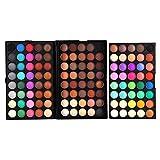 Filfeel Paleta de sombra de ojos, 120 colores Profesional Shimmer Ojos mate maquillaje a prueba de polvo cosmético Set Kit de herramientas
