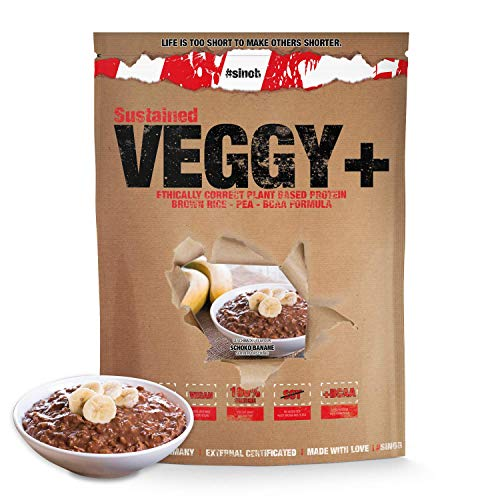 #sinob Veggy + veganistisch eiwit uit rijst- en erwtenproteïne + BCAA. 1 x 900 g.