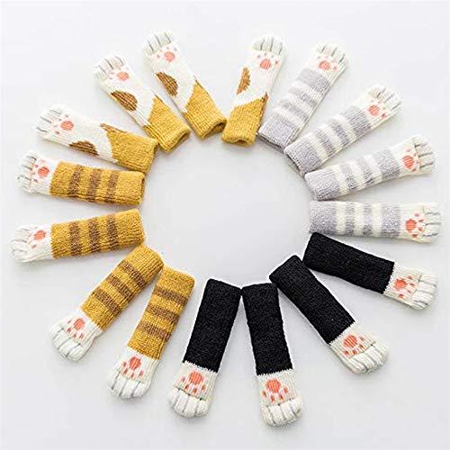 Naduew 16 Piezas Cat'S Paw Chair Socks, Muy elástico, Antideslizante, para Patas de Silla, con simpático diseño de Pata de Gato