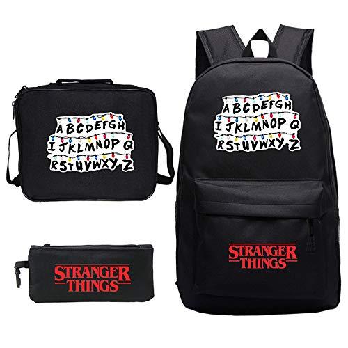 Mochila Stranger Things Escolar, Mochila Stranger Things Impresión de Cartas Niña y Niños Mochilas y Bolsas Escolares...