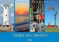 Gruesse von Usedom (Tischkalender 2022 DIN A5 quer): Sehenswerte Motive von der Insel Usedom (Monatskalender, 14 Seiten )