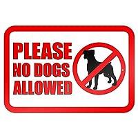犬を許可しないでください メタルポスター壁画ショップ看板ショップ看板表示板金属板ブリキ看板情報防水装飾レストラン日本食料品店カフェ旅行用品誕生日新年クリスマスパーティーギフト