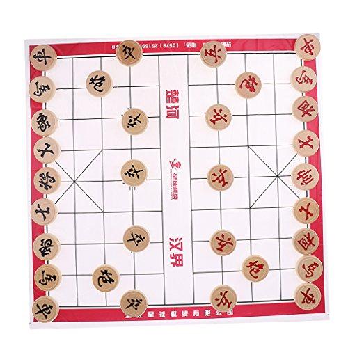Daily Mall Holz Chinesisches Schach Xiangqi Chinesisches Schachspiel - Schach Durchmesser 3,0 cm