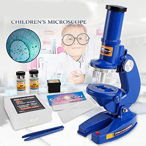 QAIYXM Biologisches High-Definition-Mikroskop, Die Frühkindliche Bildung Für Kinder, Interesse An Der Ausbildung Wissenschaft Und Bildung Satz Spielzeug (100X 200X Und 450X)