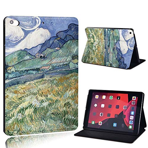 lingtai For Ipad 2 3 4 5 6 7/Air 1 2 3/Pro 11 2018 2020 Pu Leather Tablet Stand Folio Cover Ultrathin Painting Colors Slim Case (Color : Mount, Size : 2 3 4)