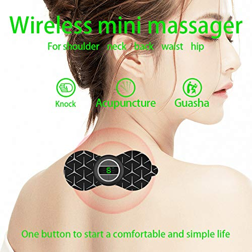 Electric Massage Device Muscle Stimulator Massager Loveka TENS Machine Wireless Pads Portable Electrode Physiotherapy Mini Reusable Gel Tens Unit Back Knee Pain//Sciatica Arthritis Relief