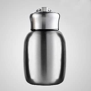 Mini taza de viaje al vacío, taza de café de acero inoxidable de doble pared con aislamiento al vacío, botella de agua a prueba de fugas, termo con un anillo para llevar, 200 ml, 280 ml