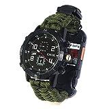Tentock Paracorde de Survie Montre/Bracelet d'urgence Kit Multifonctionnel Montre de...