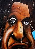 igsticker ポスター ウォールステッカー シール式ステッカー 飾り 841×1189㎜ A0 写真 フォト 壁 インテリア おしゃれ 剥がせる wall sticker poster 001037 クール ユニーク アフロ グラフィティ