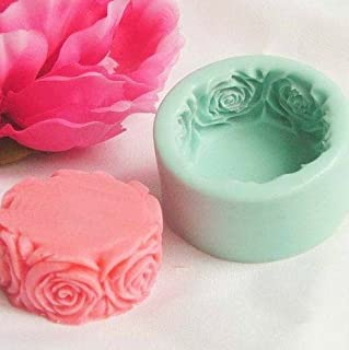 JoyGlobal Silicone 3D Rose Flower Handmade Soap Candle Mould Soap/Wax Weight: 50 Grams ± 5grams)