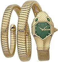 Just Cavalli Signature Snake Serpente Doppio Stainless Steel Watch JC1L168M0045 - Quartz Analog for Women in Stainless...