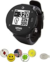 GolfBuddy Voice X GPS/Rangefinder Watch Bundle with 5 Ball Markers and 1 Magnetic Hat Clip