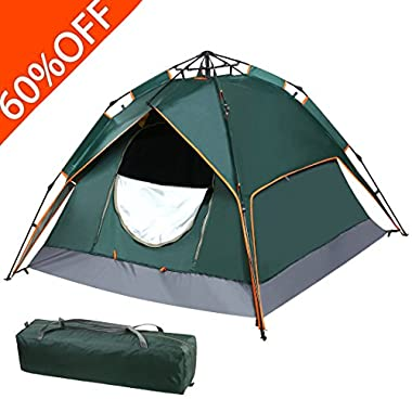 FARLAND Camping Tent 2-3 Person 3 Season Backpacking Tent (Green)