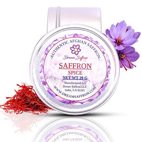Dream Saffron, Red Saffron (1 Gram), Premium Gourmet Quality Afghan Saffron, Super Negin Grade A+, All Natural, No Preservatives, Red Stigma Of Crocus Sativus