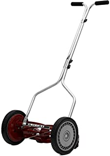 American Lawn Mower Company 14 in. Manual Walk Behind Reel Lawn Mower with Bonus Husky Steel Precision File Set with Storage Case (6-Piece)