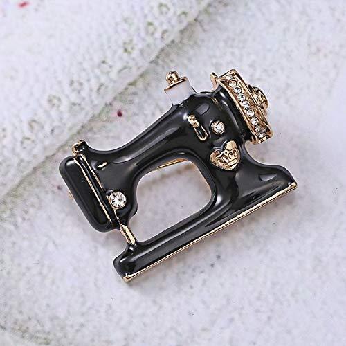 Máquina de Coser Negro Pin de Las Mujeres Broche de dedal Hilo...