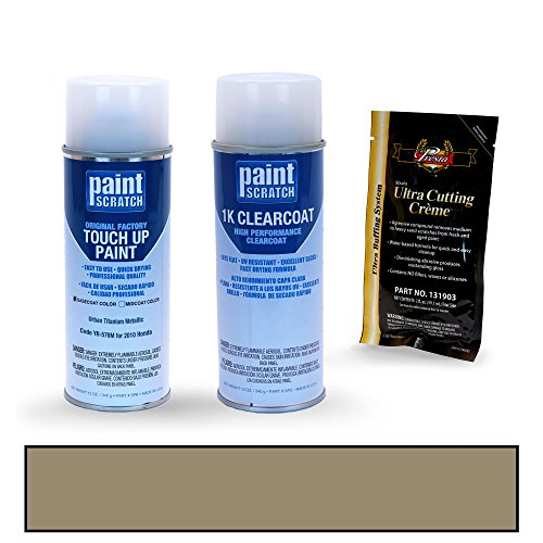 PAINTSCRATCH Touch Up Paint Spray Can Car Scratch Repair Kit - Compatible with 2010 Honda Civic Urban Titanium Metallic (Color Code: YR-578M)