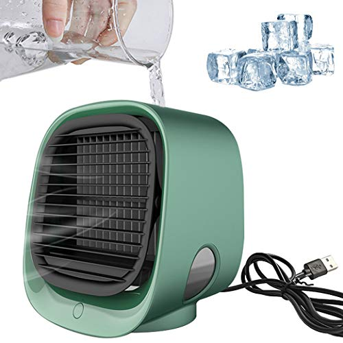 Portable Air Conditioner,Air Conditioners with Humidifier USB Air Cooler Adjustable Personal Cooling Fan Small Evaporative Coolers Purifier for Home, Bedroom, Office, Outdoor
