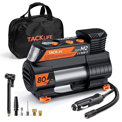 TACKLIFE M2 12V DC Portable Air Compressor Tire Inflator w/ Digital Pump  $24 at Amazon