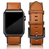 SWEES Leather Band Compatible with Apple iWatch 42mm 44mm, Genuine Leather Strap Wristb