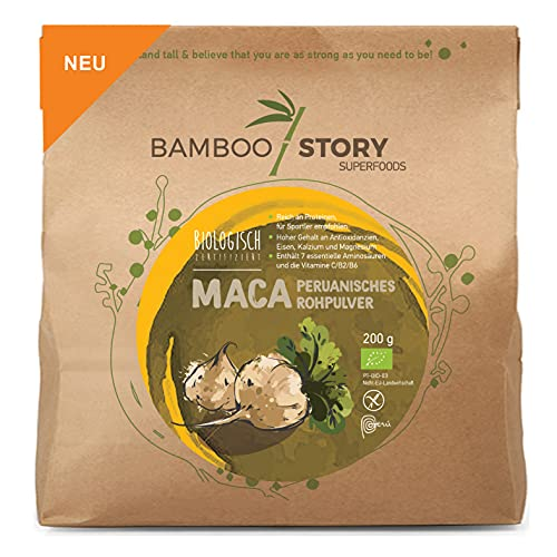 BAMBOO STORY MACA - Peruanisches – Rohpulver – BIOLOGISCH – 200 g