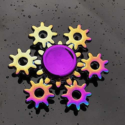 GRH Colorido Aleación de Metal Fidget Spinner R188 Cojinete Suave Mute Rainbow Hand Spinner Stress Reliever Fingertip Gyro Fidget Juguetes para niños Regalos para Adultos